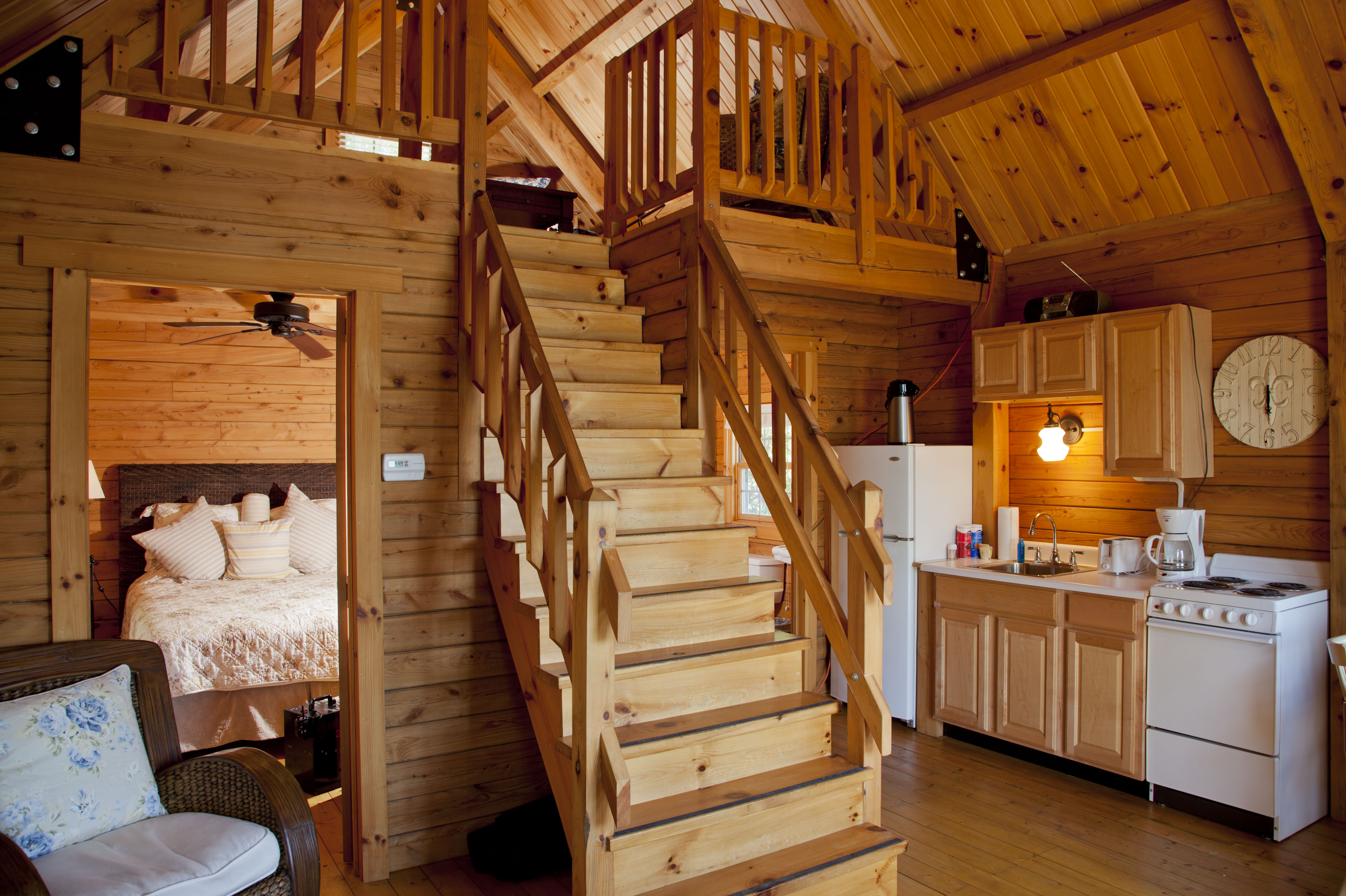 log cabin with loft