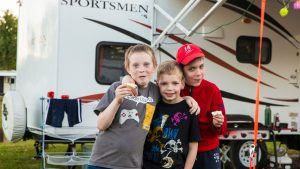 Kids at campsite