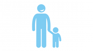 Adult and child