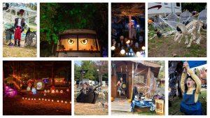 Campsites decorate for Halloween