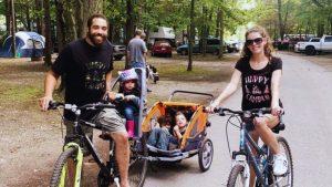 The Walker family biking